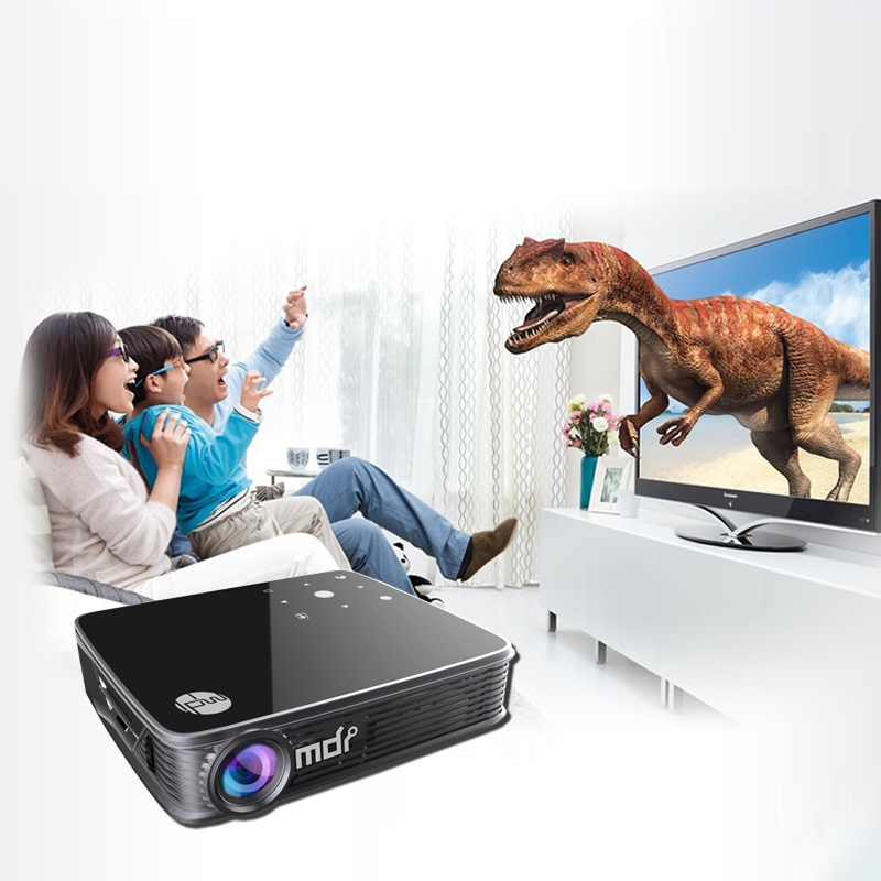 Home Projectors Android WiFi Bluetooth LED Projector 4000 lumens DLP 1080P 3D Projector