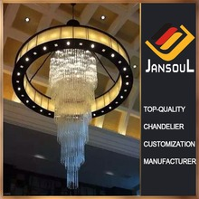 2017 design chandelier contemporary big cristal hotel pendent lamp