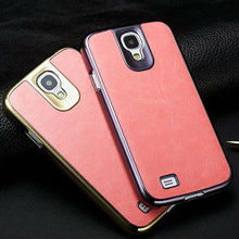 bumper leather case for i9500 waterproof cover for samsung galaxy s4 luxurious cell phone case for samsung galaxy s4 i9500