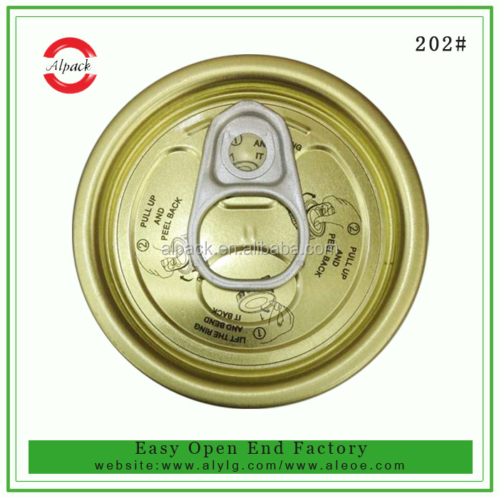 202 # Round pull ring tin tab cans easy open lid made in china