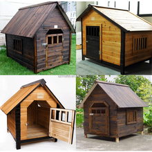 new design wholelsale lage outdoor wooden dog kennel designs