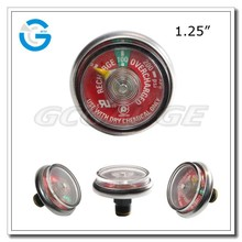 1.25 Inch Pressure Gauges For Fire Extinguishers with ul and back mounting