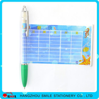 new popular flag pen plastic drawing out banner ball pen