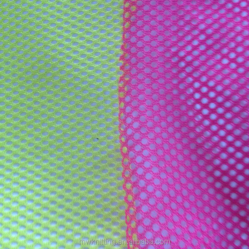 pink air mesh fabric for dress and curtain lining