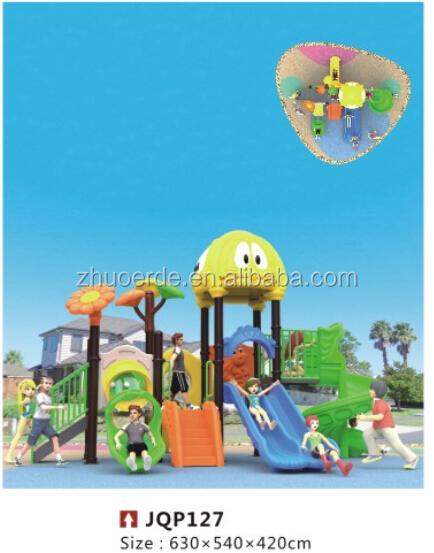 2015 Children kindergarten Outdoor play slide Playground equipment For Sale