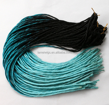 "F6676 24"" two tone soft dread lock synthetic braiding hair,soft dread braids"