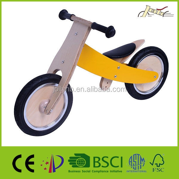 "Banana 12"" Wooden Bicycles Cross and Children Balance Bikes"