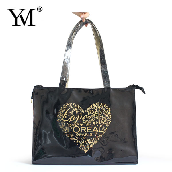 2016 Latest Design wholesale women pvc tote bag luxury fashion handbag lady custom