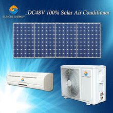 DC 48V 100% 12000BTU 18000BTU wall split unit solar air conditioner no inverter