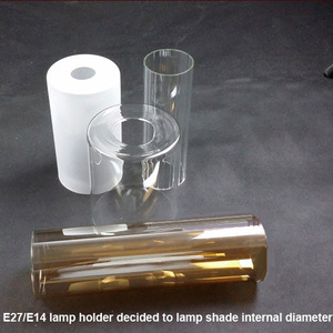 China factory blown frosted cylinder tube light opal white glass lamp shade