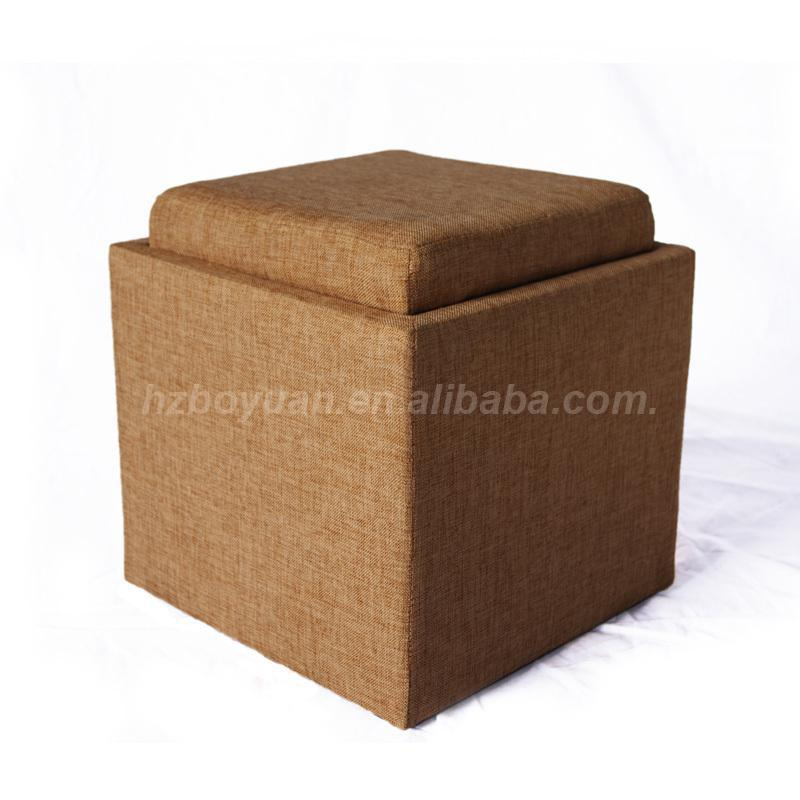 Fabric Covered Cube Storage Stool Storage Ottoman Buy