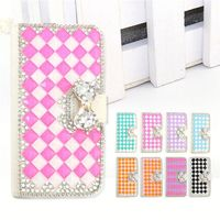 Fashion PU Leather Full Body Crystal Bling Diamond Phone Case for Wiko Selfy 3G
