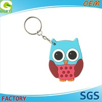 High Quality OEM 2D Custom Logo Plastic hockey stick keychain
