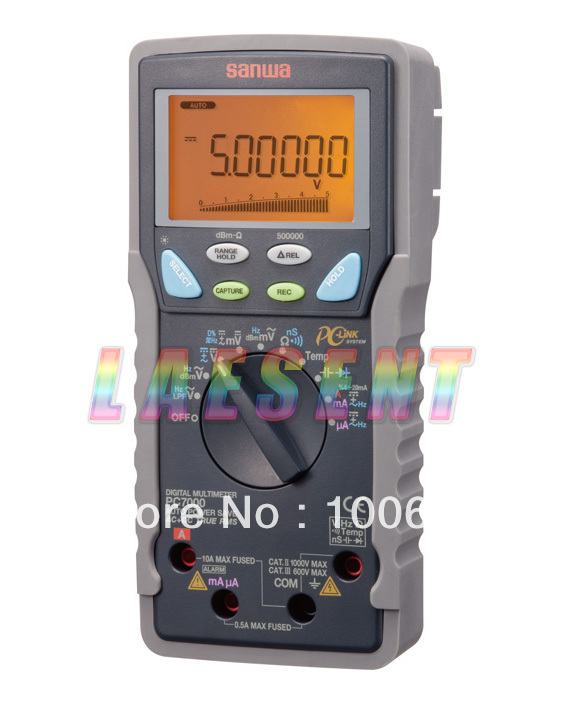 SANWA PC7000,500000 Count for DCV, Dual Display Digital Multimeters,FREE SHIPPING