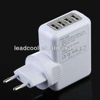 4 Port USB AC Adapter US / EU / UK / AU Plug Wall Charger for iPhone 4 / 4S for iPad 2 / 3 mp3 mp4