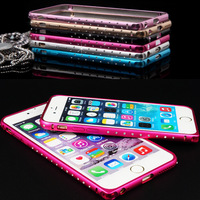2015 Fashion Luxry Diamond Metal Frame Phone Case For Iphone 6 Plus 5.5 inch