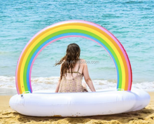 2018 new rainbow cloud inflatable pool float island for adults made in China
