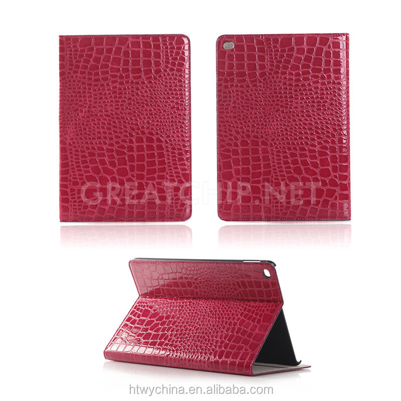 Crocodile leather Case for iPad Pro, Wake-up function Tablet PC leather Case for iPad Pro 12.9 inch