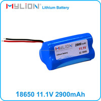 Small Rechargeable Li ion Battery for Medical Products ECG or CAPA Size 18650 2900mah 10.8V