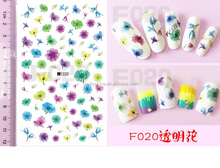 2016 new designs fashion nail art sticker nail accessories 3d molds flowers nail art