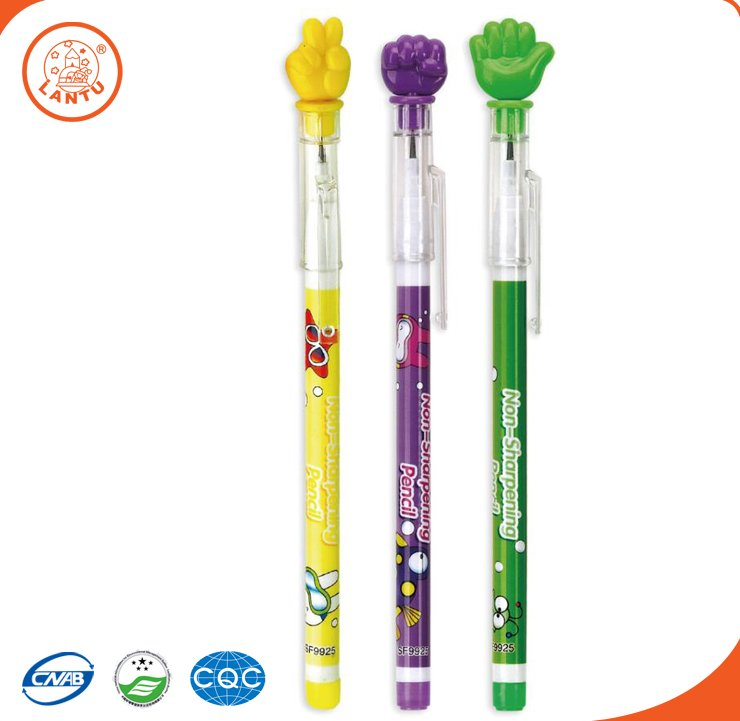 Lantu Plastic Push Lead Pencil For Promotion With Rock-paper-scissors