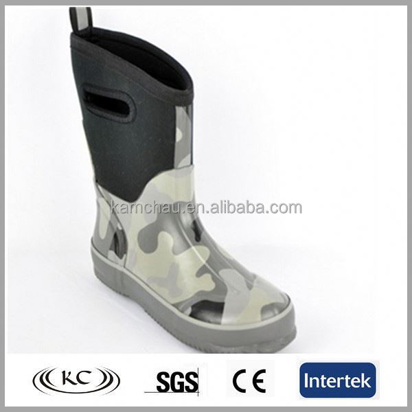 Lovely mini print gray women clear rain boots with unique logo