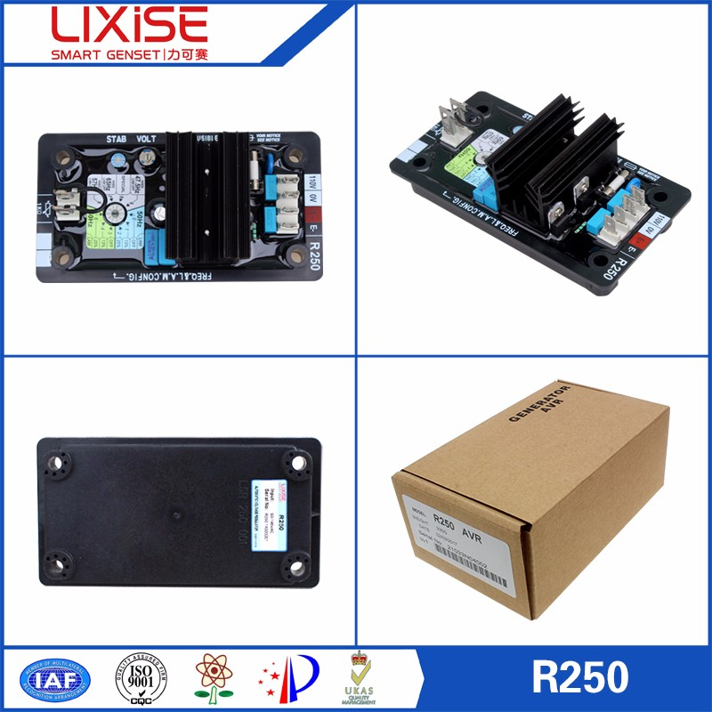 R250 LIXiSE 3 phase avr for generator voltage regulator