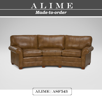 Superbe Alime Furniture ASF543 Modern Soft Leather Circle Couch Sofa For Living Room