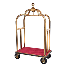 Hotel Vintage Concierge Birdcage Trolley Luggage Cart
