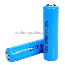 2015 Best selling 3.7v icr 14500 li-ion rechargeable battery