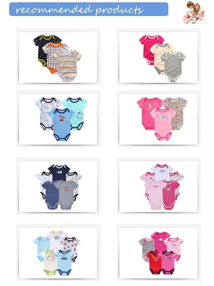 Newborn Baby girls wholesale cheap cotton diapers milk dot printing Romper Summer Jumper Playsuit Outfits