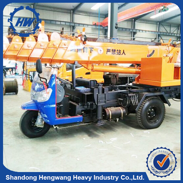 Cheap Price Small Mini Lift Pick Up Tricycle Crane 3Ton With Good Performance For Sale