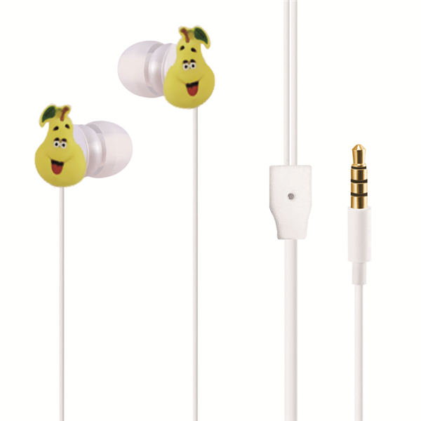 Promotion Cute Cartoon Fruit In- Ear Earphone Which Can Get Free <strong>Samples</strong>