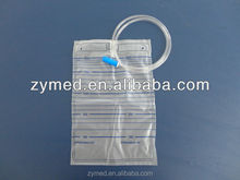 disposable 2000ml urine bags without outlet