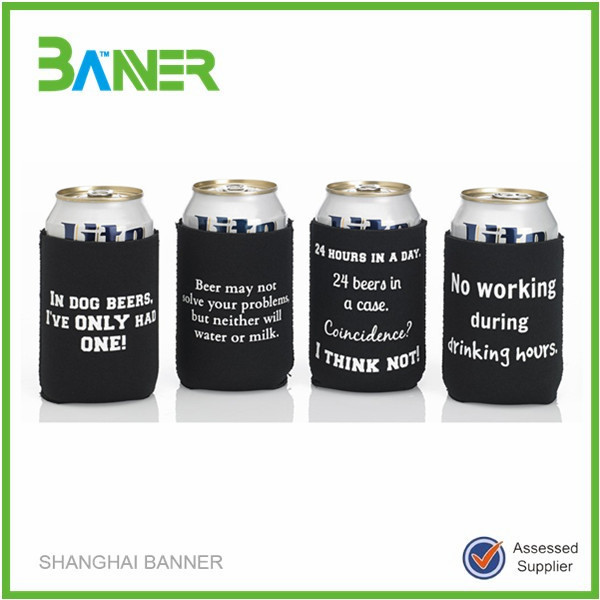 Customized printing beer wine holder Neoprene Stubby Can Cooler