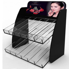 popular acrylic makeup mac cosmetic display stand for nail polish