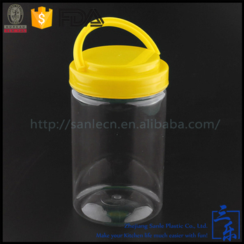 250ml PET clear airtight plastic jars with plastic lid