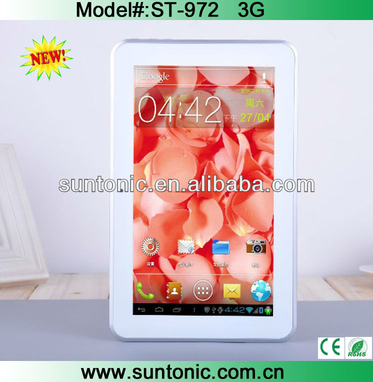 MTK 6577 dual core 9 inch android tablet 3g sim slot