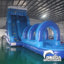 22FT Blue Wave Inflatable Stair Slide/ Water Slide with Slip and Slide