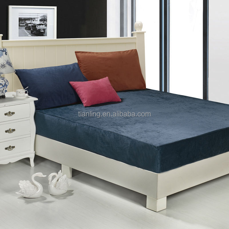 Velvet Fitted Bedsheets Mattress Cover Protector for Sale
