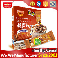 Visible nutritious chocolate and nut wholesale oatmeal
