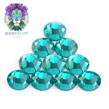 Decorative for clothing and ceramic utensils shinning 5A grade hot fix crystal rhinestone