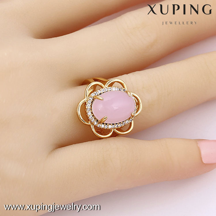 13677- Xuping Gold Rings New Model 2016 Fashion Ring With Big Stone