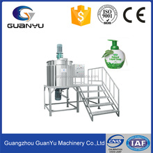High quality shear dispersed mixing tank for liquid detergent dishwashing homogenization