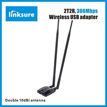 USB2.0 interface 2.4GHz 300Mbps high speed wifi receiver for PC