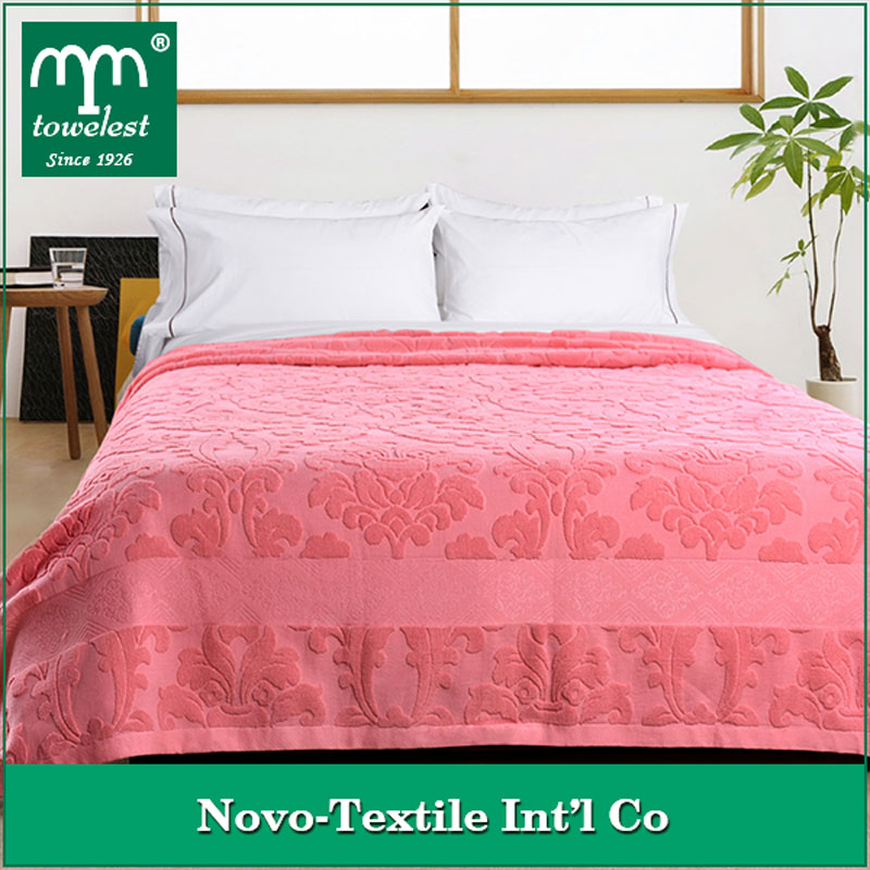 Hot Wholesale!New Arrival MMY Brand 100% Cotton Cozy Blankets Floral Jacquard Towel Blanket on Bed/Sofa Throw Blankets
