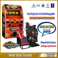 Field Army Cavalry indoor simulator electronic horse riding amusement game shooting machines