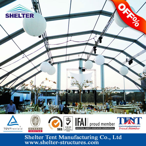 5m Extended PT series Aluminum structure Polygonal clear roof Shelter outdoor tent best selling in Espana