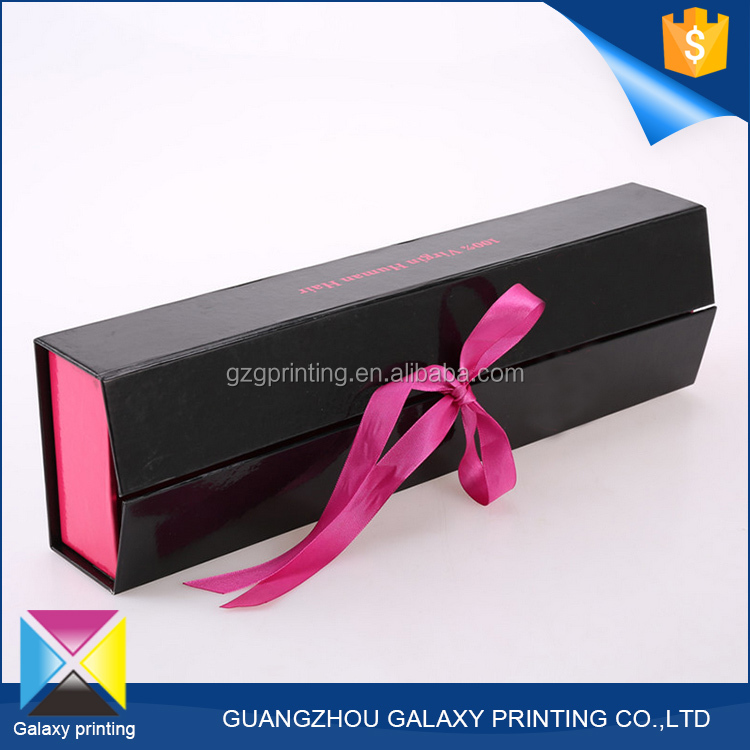 OEM Custom shaped personalized braid wig hair extension packaging boxes for hair product