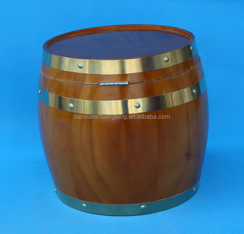 Made In China Pine Oak Wood Ice Wine Beer Bucket Barrel With Stainless Steel Container